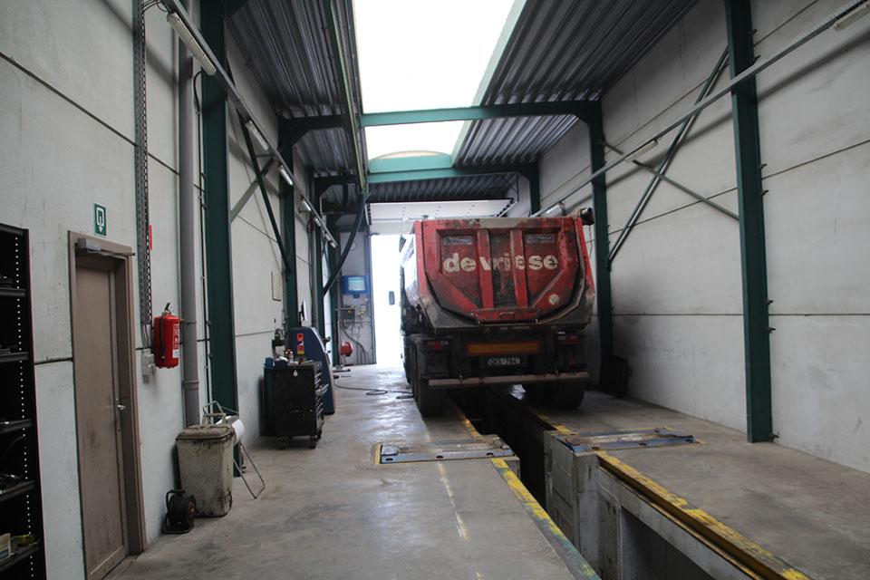 Remstation voor vrachtwagens